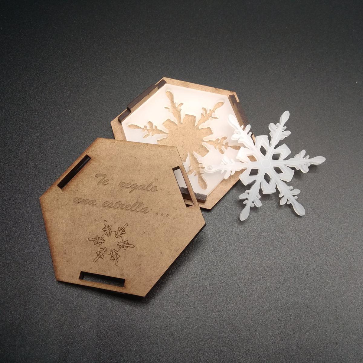 Estrella metacrilato con caja (modelo 1)