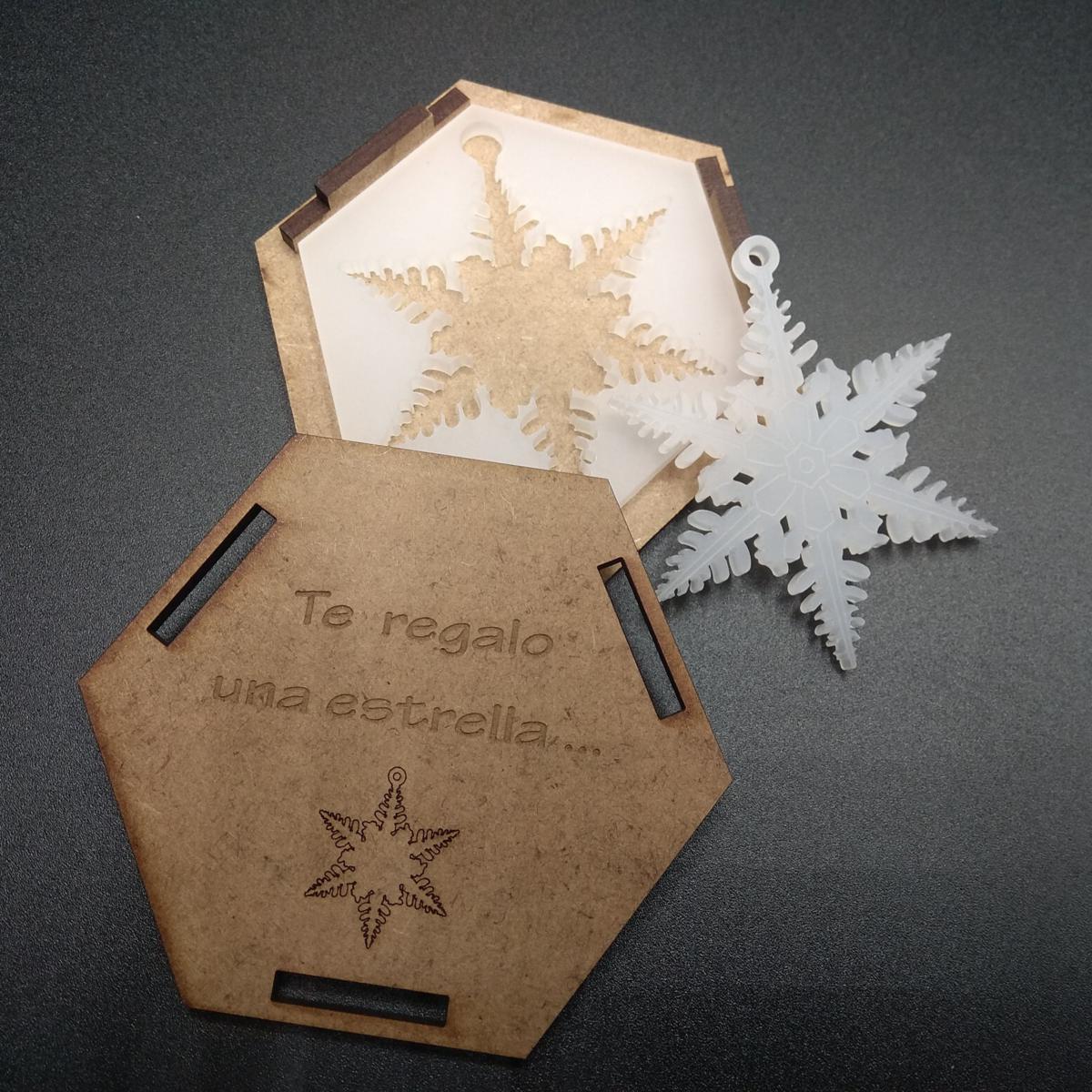 Estrella metacrilato con caja (modelo 4)