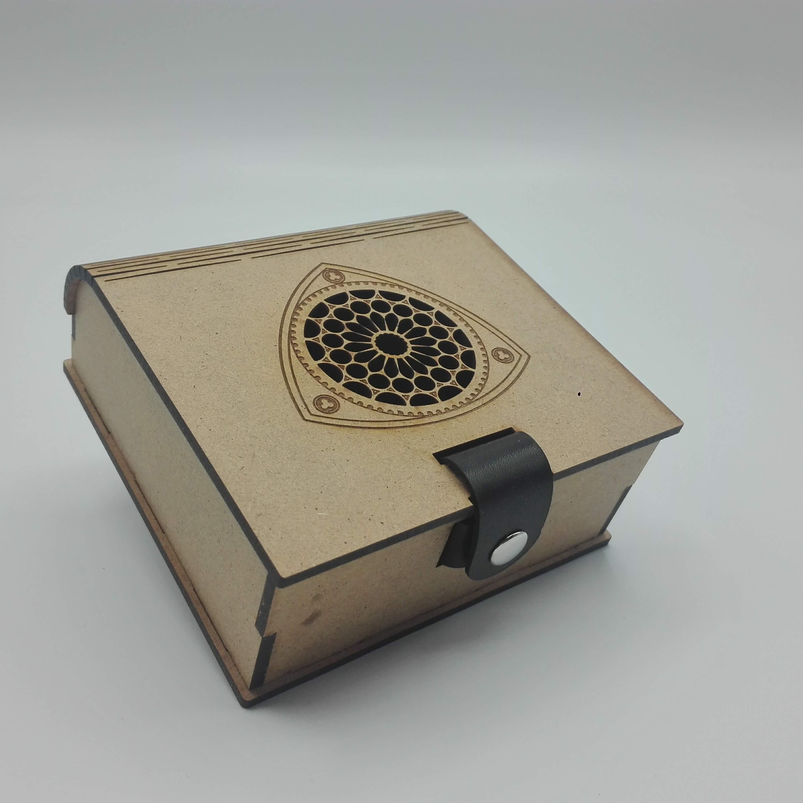 Caja Rosetón Sur -Cierre cuero-(Grande)