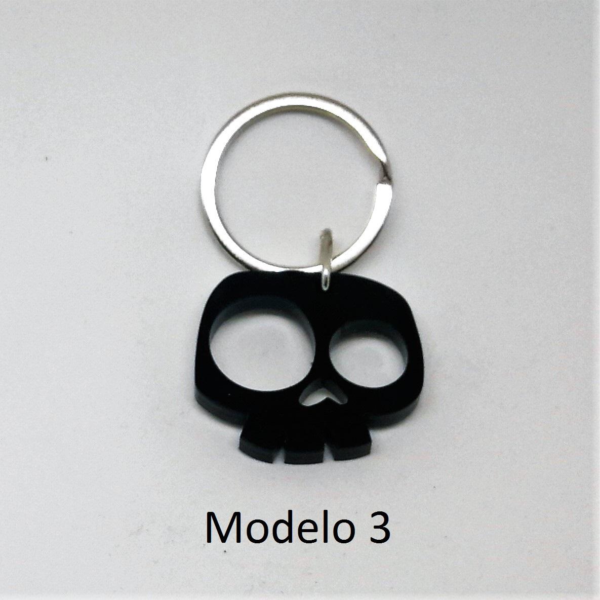 Llavero calavera metacrilato (modelo 3)