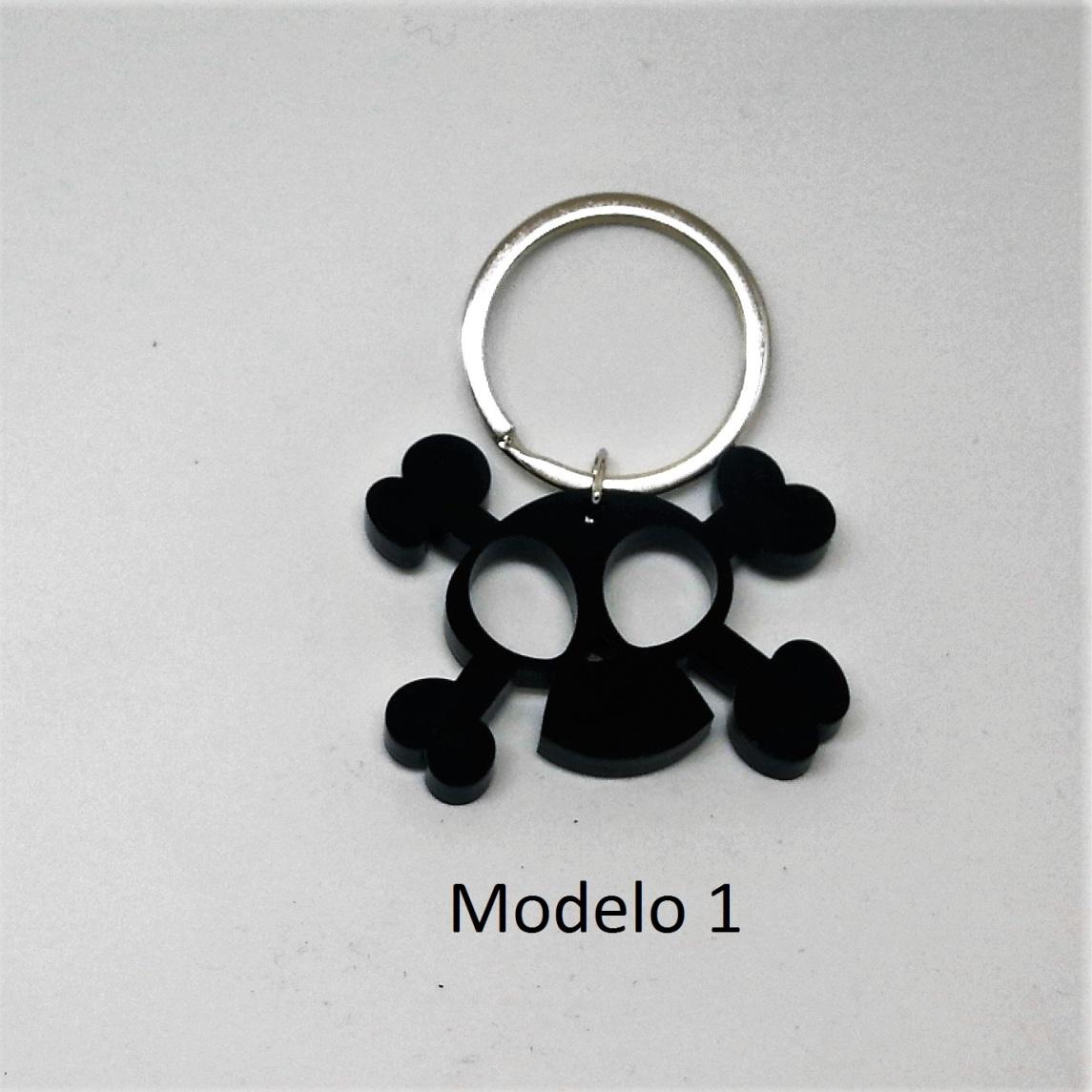 Llavero calavera metacrilato (modelo 1)