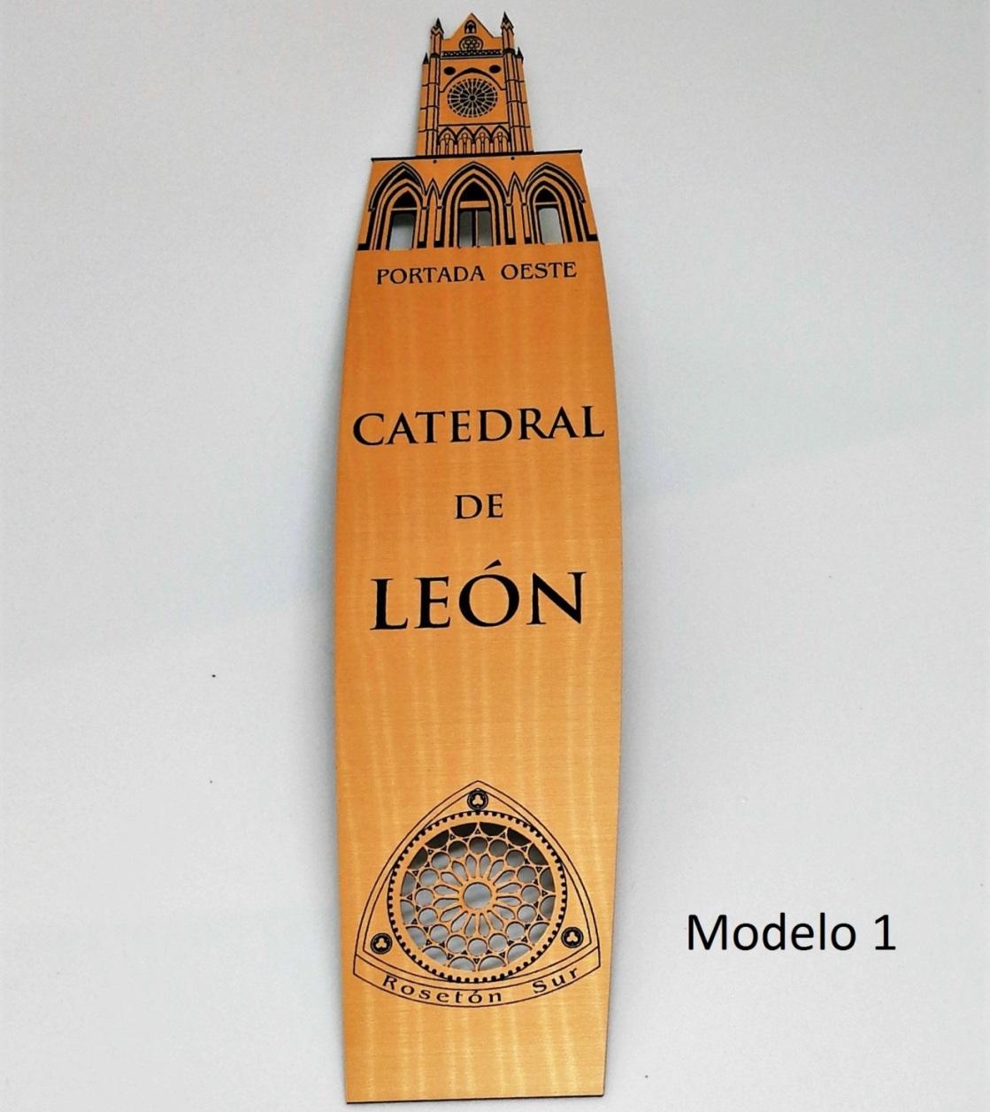 Marcapáginas Catedral de León (modelo 1)